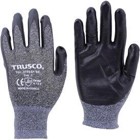 トラスコ中山 TRUSCO カラーニトリル背抜き手袋 ブラック L TGL−3595SP−BK−L