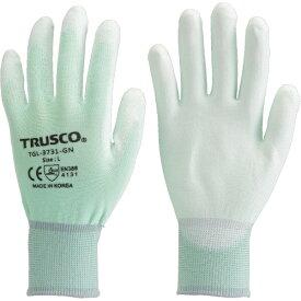 トラスコ中山 TRUSCO カラーナイロン手袋PU手のひらコート グリーン M TGL−3731−GN−M