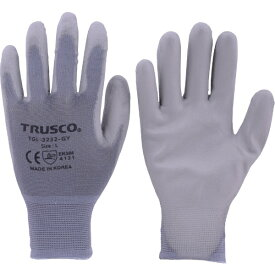トラスコ中山 TRUSCO ナイロン手袋PU手のひらコートM TGL−3232−GY−M