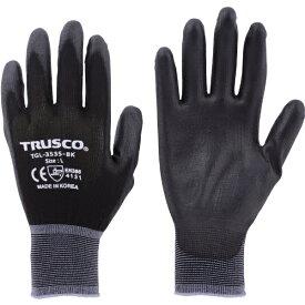トラスコ中山 TRUSCO カラーナイロン手袋PU手のひらコート ブラック M TGL−3535−BK−M