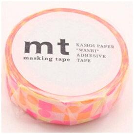 カモ井加工紙 KAMOI mt 1P マスキングテープ(まるさんかくしかく・ピンク) MT01D297
