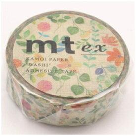 カモ井加工紙 KAMOI mt ex マスキングテープ(水彩花柄) MTEX1P109