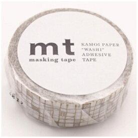 カモ井加工紙 KAMOI mt 1P マスキングテープ(ライン・ブラウン) MT01D292