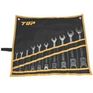 トップ工業 TOP工業 TOP 首振りラチェットコンビセット FRC−10000S (1セット10本)
