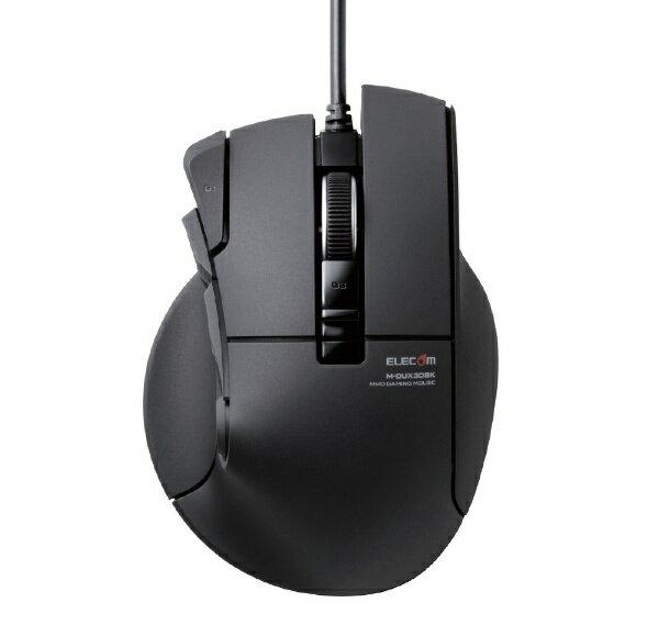 エレコム ELECOM 有線光学式ゲーミングマウス[USB] DUXシリーズ(10ボタン・ブラック) M-DUX30BK[MDUX30BK]