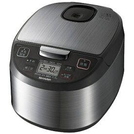 シャープ SHARP KS-S10J 炊飯器 黒厚釜&球面炊き シルバー [5.5合 /マイコン][5.5合炊き 5合 電気 釜 一人暮らし KSS10J]