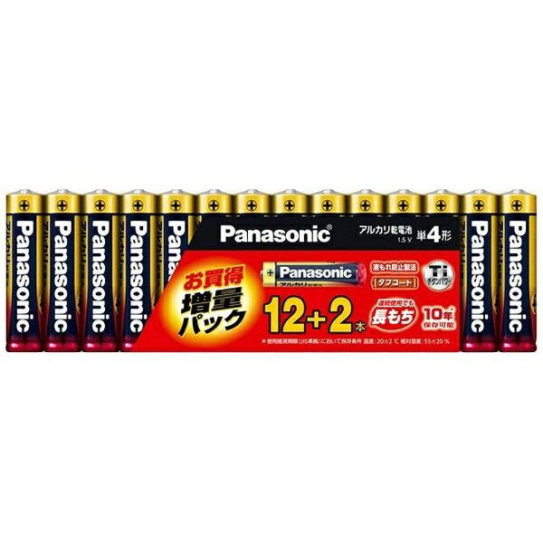 パナソニック LR03XJSP/14S 【単4形】アルカリ乾電池 12+2本パック(限定増量パック) LR03XJSP/14S[LR03XJSP14S] panasonic