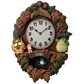 リズム時計 RHYTHM キャラクター掛け時計 トトロM429 茶色ボカシ仕上 4MJ429-M06[4MJ429M06]