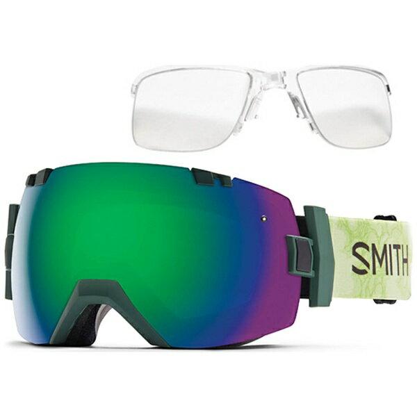 【送料無料】 スミス I/O X インナーフレームセット(Vagabond/Green Sol-X Mirror、Red Sensor Mirror)