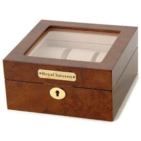 ロイヤルハウゼン Royal hausen 時計収納ケース(6本用) GC02-LG3-06(ブラウン)【並行輸入品】
