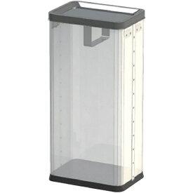 ぶんぶく Bunbuku 中身の見えるゴミ箱 角型ロータリー屑入(袋止め付) 透明 RSMP01B [22L]