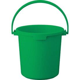 トラスコ中山 PPカラーバケツ 22L 緑 TPPB22GN