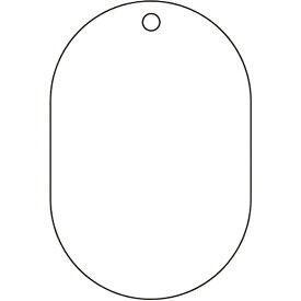 トラスコ中山 白無地板 小判型 5枚組 70×47×2.5厚 T45926