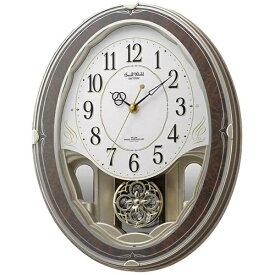 リズム時計 RHYTHM からくり時計 【スモールワールドハイム】 茶 4MN520RH23 [電波自動受信機能有]
