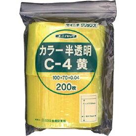 生産日本社 SEISANNIPPONSHA 「ユニパック」 C-4 黄 100×70×0.04 200枚入 C4CY