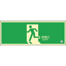 日本緑十字 JAPAN GREEN CROSS 蓄光SN-2804 高輝度蓄光誘導標識120×360 PETステッカー 360804
