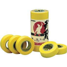 カモ井加工紙 KAMOI 和紙マスキングテープ 武蔵 15mm幅 8巻入り MUSASHIJAN15
