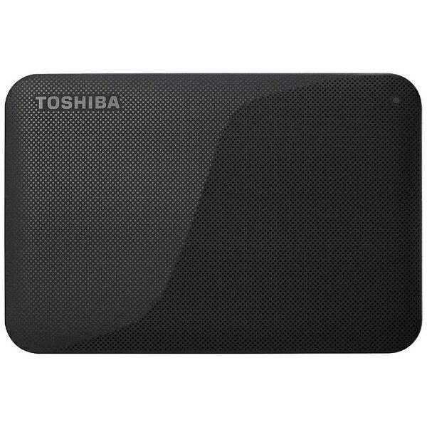 【送料無料】 東芝 ポータブルハードディスク 2TB[USB 3.0・Mac/Win] HD-ACシリーズ ブラック HD-AC20TK