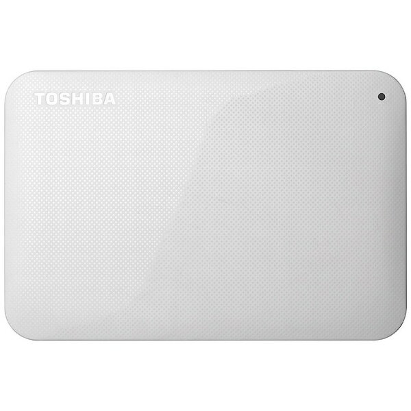 【送料無料】 東芝 ポータブルハードディスク 1TB[USB 3.0・Mac/Win] HD-ACシリーズ ホワイト HD-AC10TW