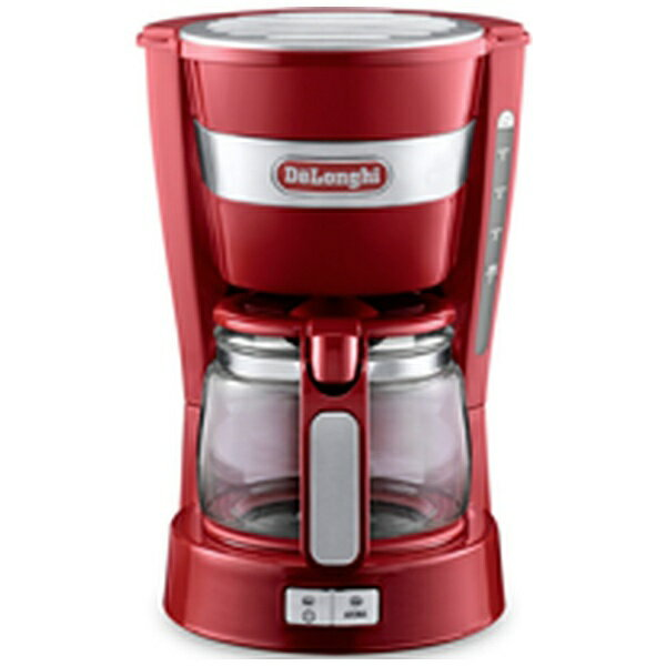【送料無料】 デロンギ ドリップコーヒーメーカー (5杯分) ICM14011J-R レッド[ICM14011J]