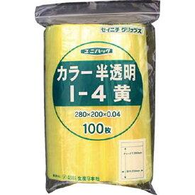 生産日本社 SEISANNIPPONSHA 「ユニパック」 I-4 黄 280×200×0.04 100枚入 I4CY