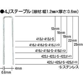 マックス MAX タッカ用4Jステープル(白)肩幅4mm 長さ25mm 5000本入り 425JWHITE