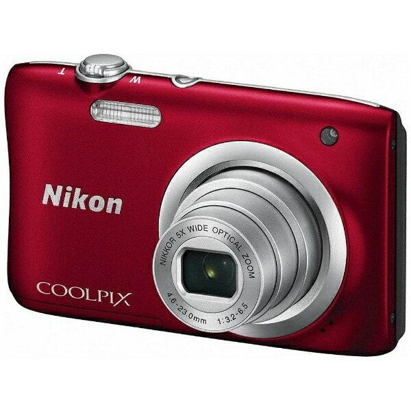 【送料無料】 ニコン A100 コンパクトデジタルカメラ COOLPIX(クールピクス) レッド