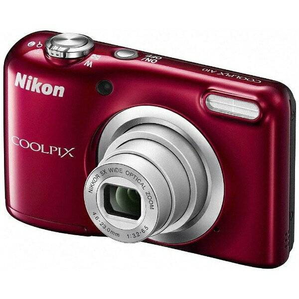 【送料無料】 ニコン コンパクトデジタルカメラ COOLPIX(クールピクス) A10(レッド)