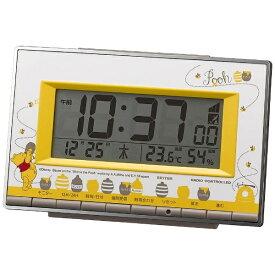 リズム時計 RHYTHM 目覚まし時計 【アラームデジタル/クマノプーサン】 8RZ133MC08 [デジタル /電波自動受信機能有][8RZ133MC08]