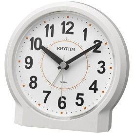 リズム時計 RHYTHM 目覚まし時計 ピュアライトR658 白(白) 8RE658SR03 [アナログ]