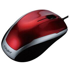ナカバヤシ Nakabayashi MUS-UKT115R マウス Digio2 ベーシック レッド [BlueLED /3ボタン /USB /有線][MUSUKT115R]
