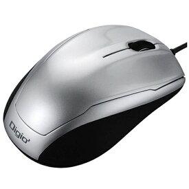 ナカバヤシ Nakabayashi MUS-UKT115SL マウス Digio2 ベーシック シルバー [BlueLED /3ボタン /USB /有線][MUSUKT115SL]