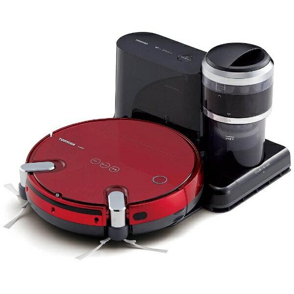【送料無料】 東芝 TOSHIBA 【エントリーでポイント10倍  9/26 9:59まで】VC-RVS2 ロボット掃除機 TORNEO ROBO(トルネオロボ) グランレッド[VCRVS2R]