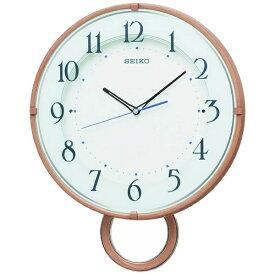 セイコー SEIKO 掛け時計 【ゆっくり振り子】 薄茶木目模様 PH206A [電波自動受信機能有]