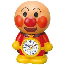 リズム時計 RHYTHM 目覚まし時計 アンパンマンめざましとけい 茶色(白) 4SE552-M06 [アナログ][4SE552M06]