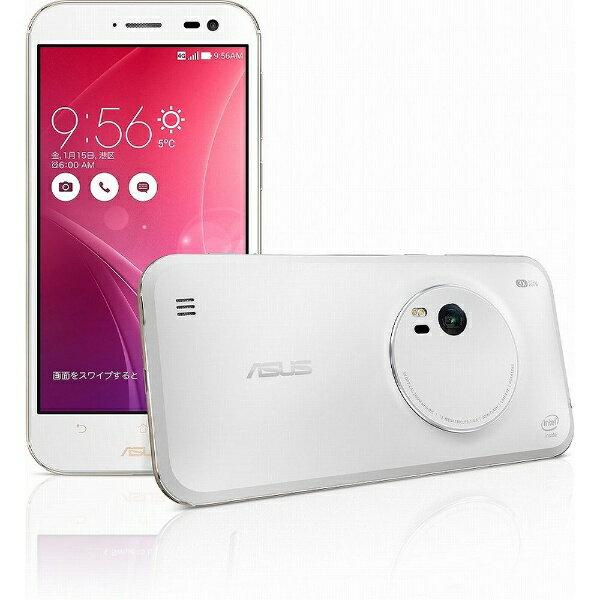 【送料無料】 ASUS ZenFone Zoom スタンダード ホワイト「ZX551ML-WH32S4PL」 Android 5.0・5.5型・メモリ/ストレージ:4GB/32GB microSIMx1 SIMフリースマートフォン