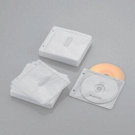 エレコム ELECOM Blu-ray/CD/DVD対応 不織布ケース 2穴 120枚収納 ホワイト CCD-NBWB120WH[CCDNBWB120WH]