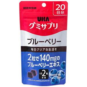 UHA味覚糖 グミサプリ ブルーベリー 20日分【wtcool】【point_rb】