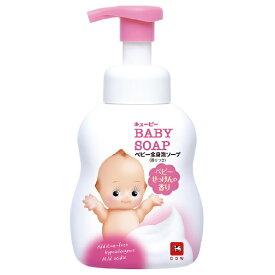 牛乳石鹸共進社 COW BRAND SOAP KYOSHINSHA キューピー全身ベビーソープ(泡タイプ) ベビーせっけんの香り ポンプ 400ml〔ベビーソープ〕