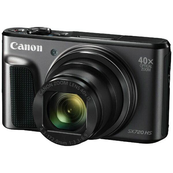 【送料無料】 キヤノン CANON コンパクトデジタルカメラ PowerShot(パワーショット) SX720 HS(ブラック)[SX720HS]