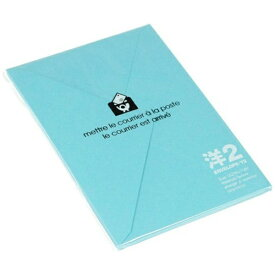 エトランジェ etranger [封筒] EDC 洋2封筒 画用紙 (色:ミズイロ) ENY2-G-29