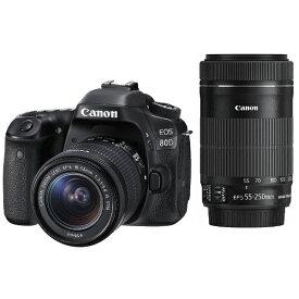 キヤノン CANON EOS 80D【ダブルズームキット】/デジタル一眼レフカメラ[EOS80D]