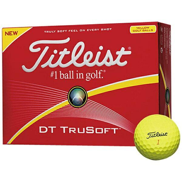 タイトリスト ゴルフボール DT TRUSOFT《1スリーブ(3球)/イエロー》 【代金引換配送不可】
