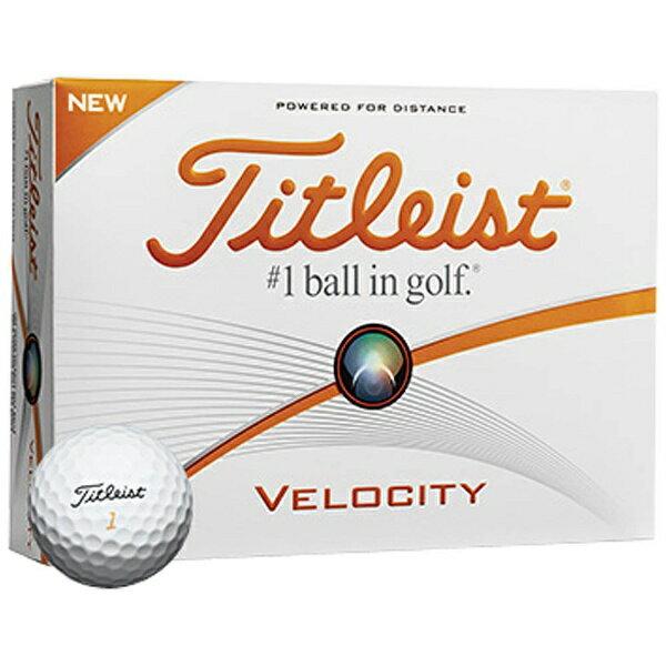 タイトリスト 【スリーブ単位販売になります】ゴルフボール VELOCITY《1スリーブ(3球)/ホワイト》 【代金引換配送不可】
