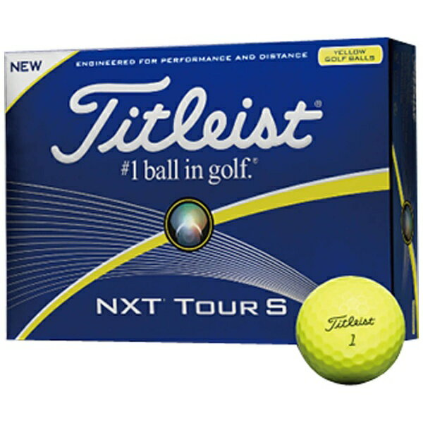 タイトリスト 【スリーブ単位販売になります】ゴルフボール NXTツアーS《1スリーブ(3球)/イエロー》 【代金引換配送不可】