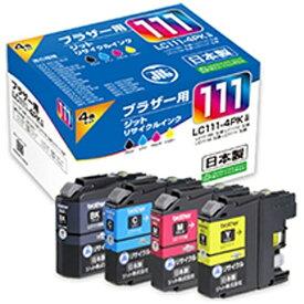 ジット JIT JIT-B1114P ブラザー brother:LC111-4PK(4色パック)対応 ジット リサイクルインク カートリッジ JIT-B1114P 4色[JITB1114P]【wtcomo】