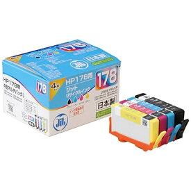 ジット JIT JIT-H1784P ヒューレット・パッカード HP:HP178 CR281AA 4色マルチパック対応 ジット リサイクルインク カートリッジ JIT-H1784P 4色[JITH1784P]【wtcomo】