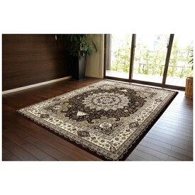 イケヒコ IKEHIKO ラグ トルコ製 ウィルトン織り『ラフィット』(80×140cm/ブラウン)