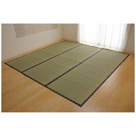 イケヒコ IKEHIKO ラグ い草 糸引織 「梅花」(185×185cm/ナチュラル)【日本製】