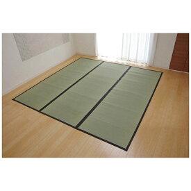 イケヒコ IKEHIKO ラグ い草 麻綿織 「清正」(176×176cm/ナチュラル)【日本製】